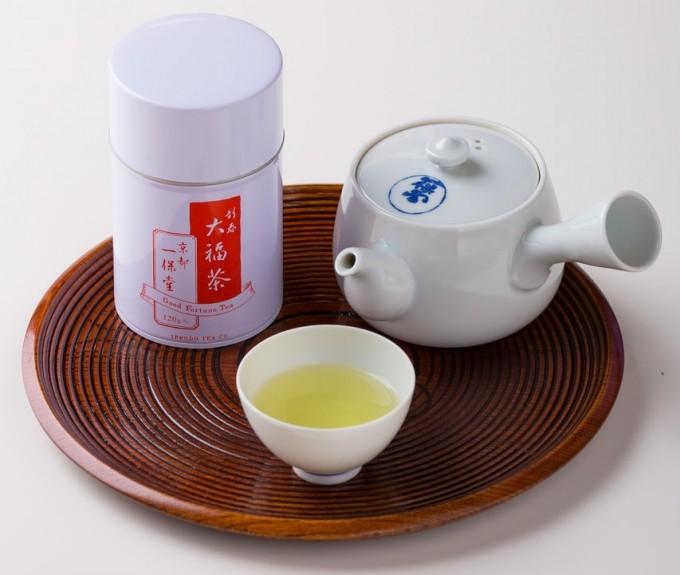 一保堂茶舗の大福茶 中缶箱(120g)の写真