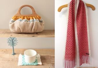 寒い日もほっとさせてくれる、あたたかみある手織りアイテム「trois temps」