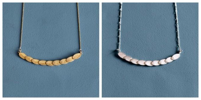 「nakagawa kumiko」のパターンネックレス2種類