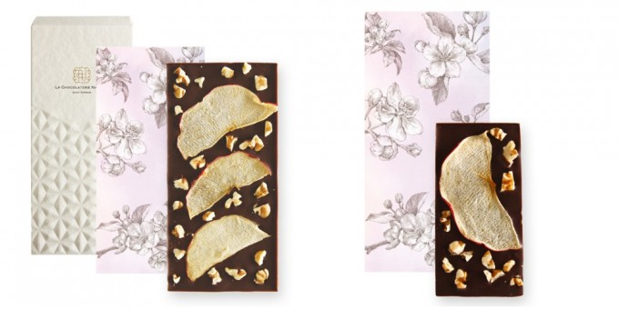【Seasonal Tablet】Dark Chocolate with Apple & Walnuts