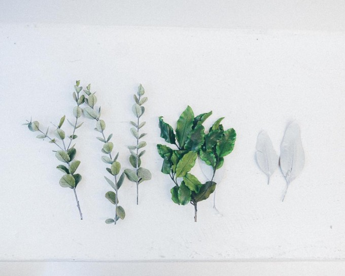 「muku.」の様々なドライされた植物が並ぶ様子