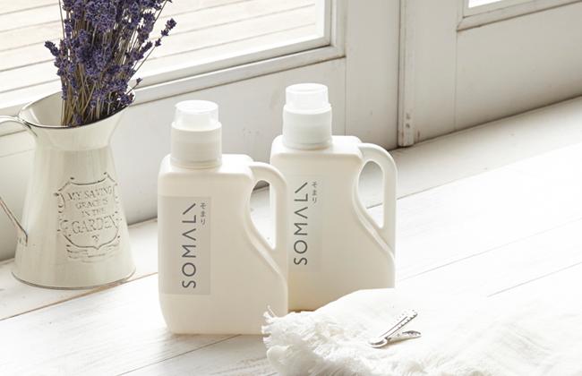 おしゃれな衣類洗濯用洗剤、ギフトにもおすすめの「SOMALI」の洗濯用液体石けん