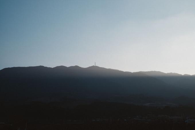 福岡県うきは市の耳納連山の風景