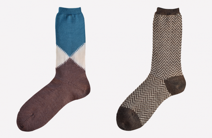 SOC TOKYOのウール100%の靴下2種類