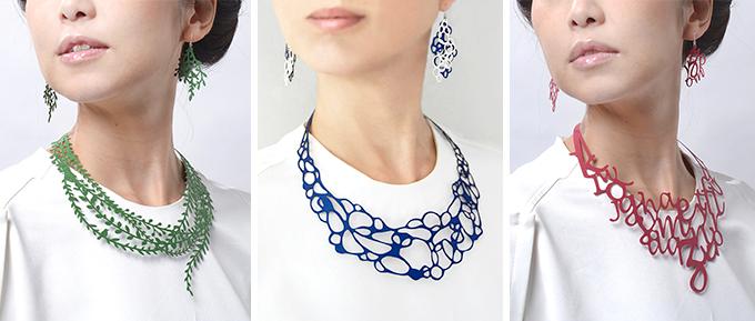 新感覚のアクセサリー「Paper Jewelry」のネックレス