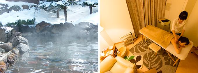 裏磐梯グランデコ東急ホテルの露天風呂とアロマトリートメント