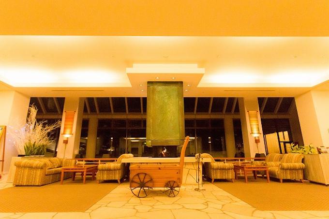 裏磐梯グランデコ東急ホテルの暖炉