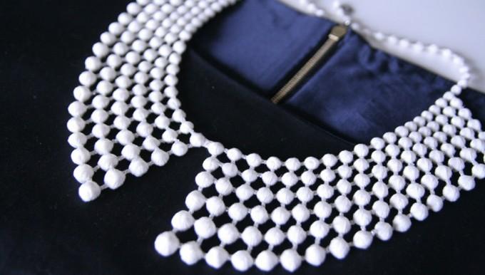 000(トリプル・オゥ)の付け衿ネックレスと洋服