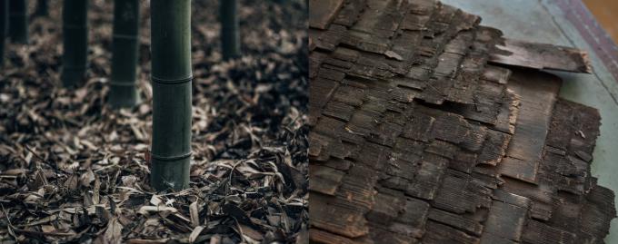 TAKANO CHIKKO(高野竹工)の使われる竹や古材