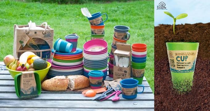 EcoSouLifeのカップやお皿などのプロダクト数種類