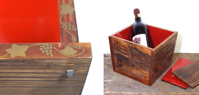 高野竹工の金閣寺の古材で作ったワインクーラー