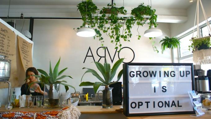 ハワイのカカアコにあるカフェ「ARVO」の店内