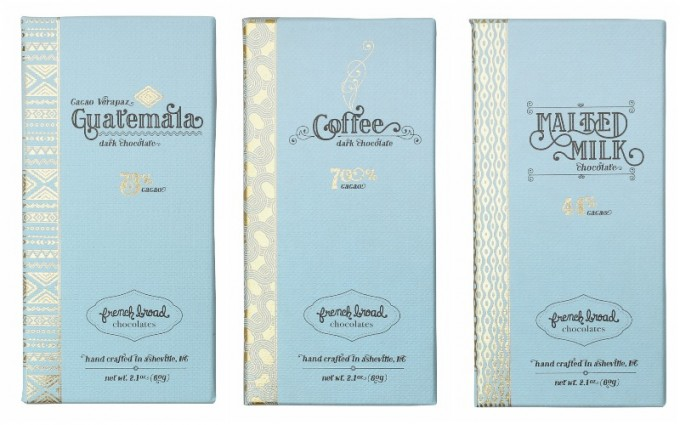 French Broad Chocolatesのチョコレート3種類