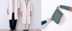 「yohaku(よはく)」のコートを着る男女とスヌード
