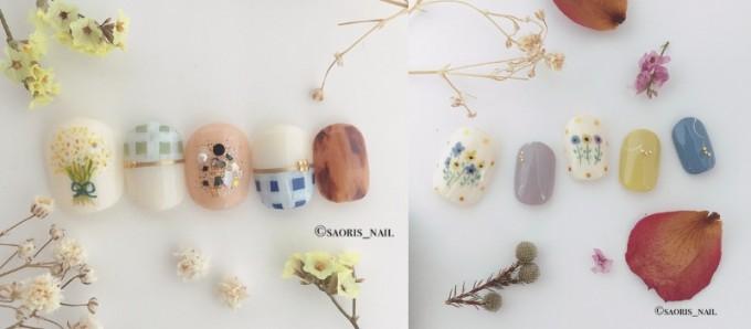 SAORI'S NAILのお花が主役のネイルチップ