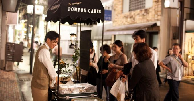 「pompon cakes(ポンポンケーキ)」のワゴンの様子