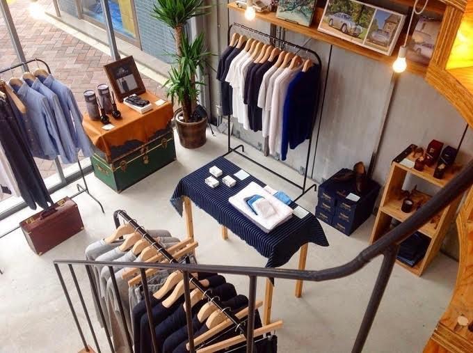 新橋のスタイルショップTENTOSHIの店内写真