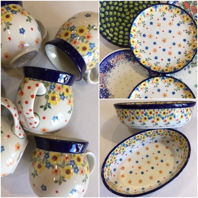 ポーランド陶器・ポーリッシュポタリーのカップ・お皿