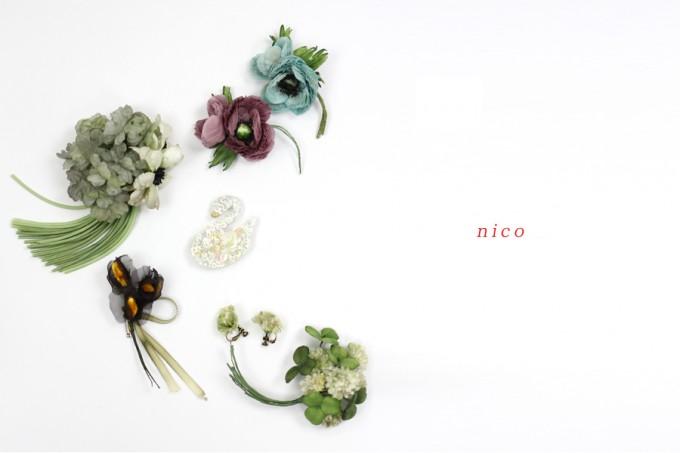 ブーケノチーフの「nico(ニコ)」のコサージュ