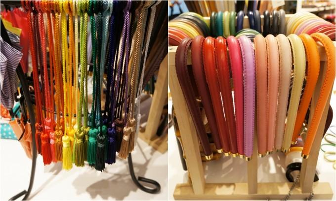 東京ノーブルの傘セミオーダーのタッセルと柄のパーツ