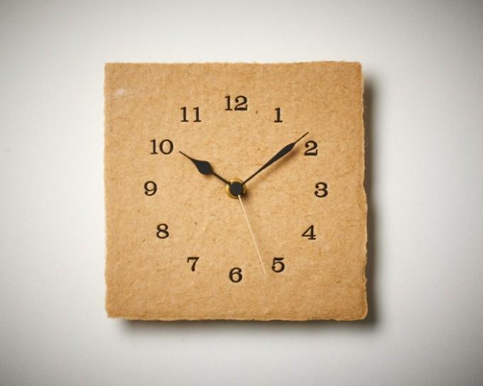 手漉き和紙の時計LETTER PRESS CLOCK