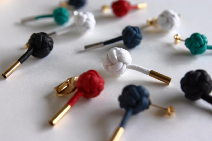 tamakojewelleryのmusubowシリーズのピアス数種類