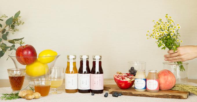 VEGE KITCHENのハーブコーディアルと甘酒数種類