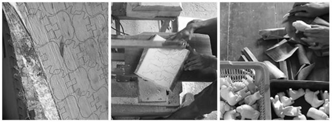 「ぽれぽれ動物」の製造過程