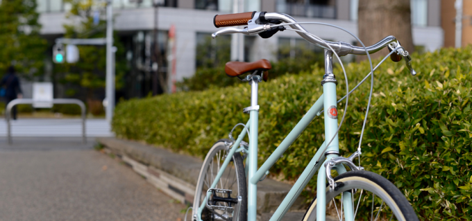 tokyobikeのミント色の自転車