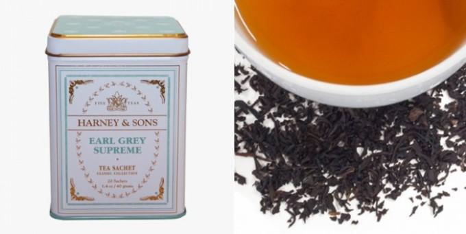 アールグレイ・スプリームの缶と茶葉