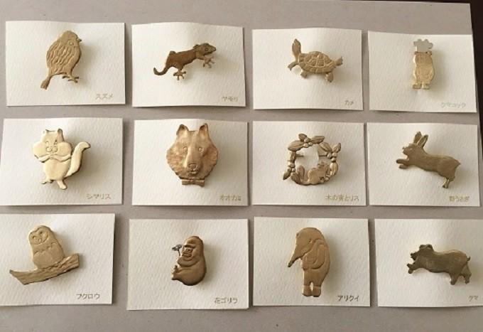 「動物モチーフのブローチ」 /藤田商店