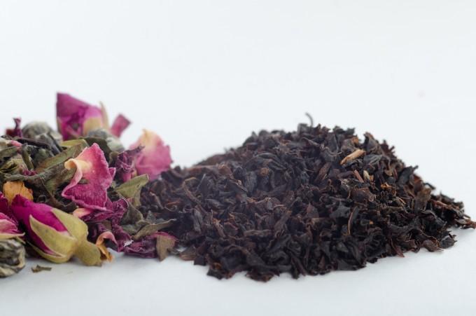 中国茶の花のきれいな茶葉