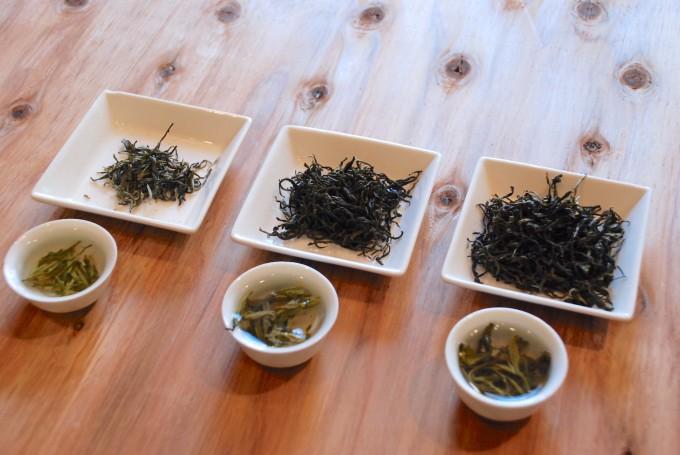 中国茶の飲み比べ
