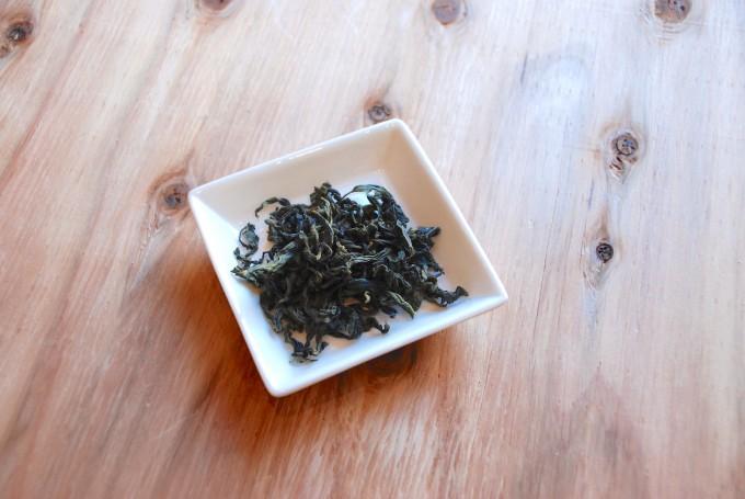 中国茶の文山包種の茶葉
