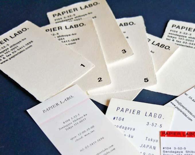PAPIER LABO. (パピエラボ)の活版印刷の名刺やショップカード
