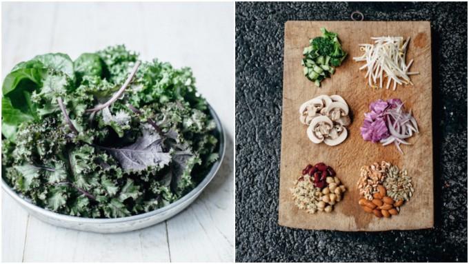 サラダボウル専門店『GREEN BROTHERS(グリーンブラザーズ)の野菜やナッツ