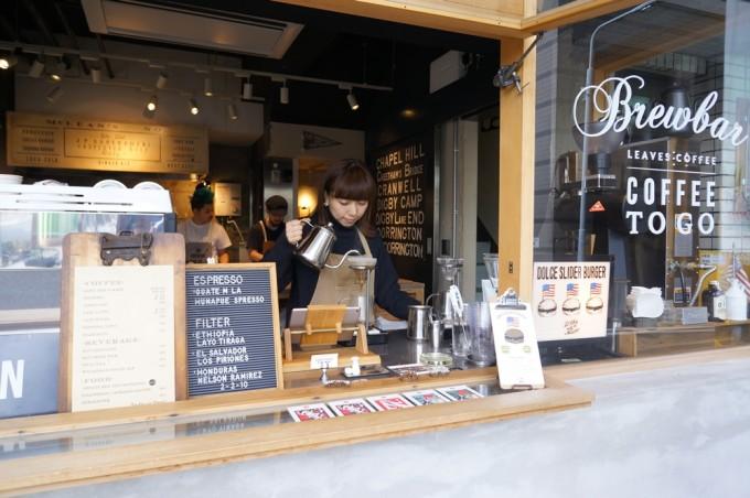 蔵前THE EASTにあるコーヒースタンドLEAVES COFFEE APARTMET(リーブスコーヒーアパートメント)の外観