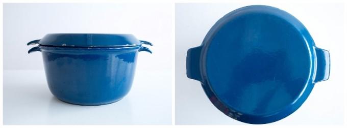 デンマーク・NACCO社製の両手鍋をサイドとトップから見た
