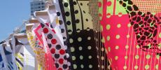 春のマルシェやまなしに出展されたスカーフ