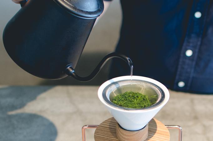 green brewingの日本茶のハンドドリップ