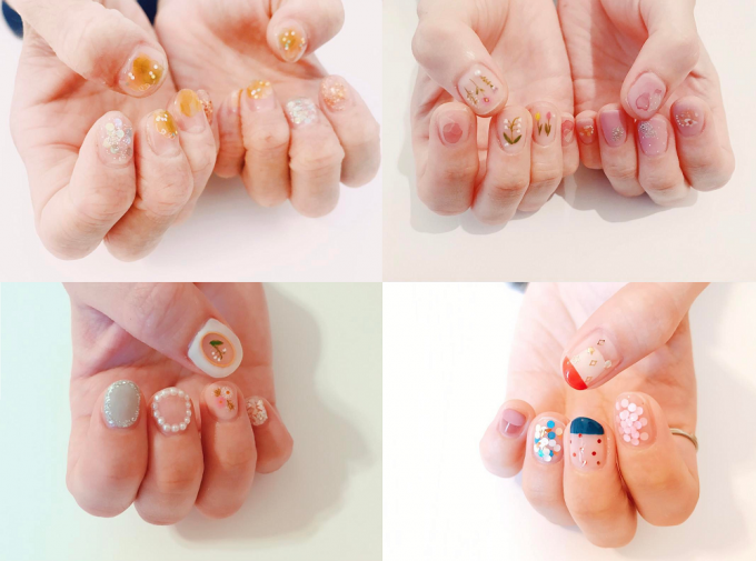 「nail atelier りぼん」が提供しているネイル4種類