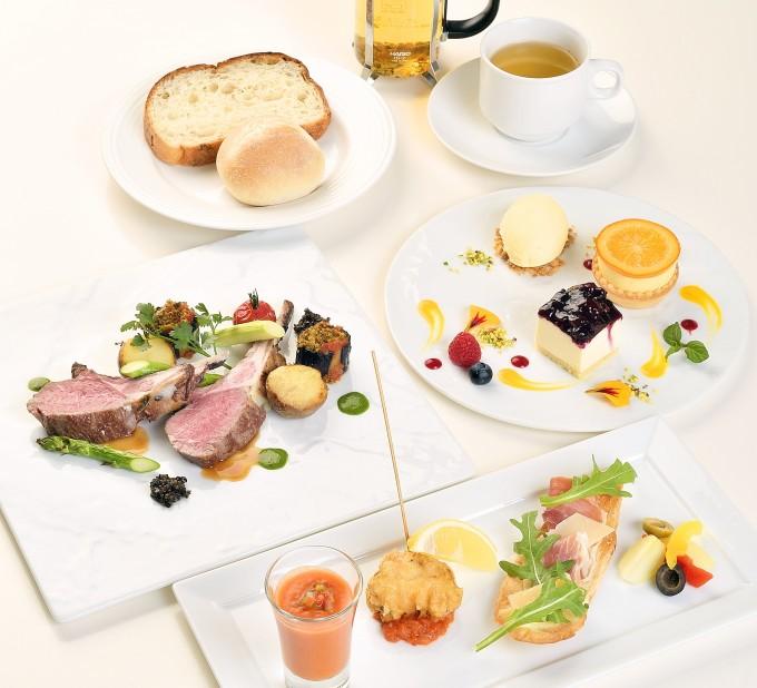 ポーラ美術館内にある「レストラン アレイ」企画展に合わせた期間限定メニュー