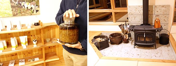 カミツレ研究所の見学や八寿恵荘の薪ストーブ