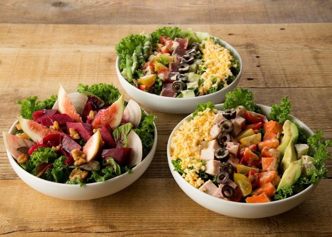 「ミスターファーマー」は新鮮な野菜のサラダが味わえる