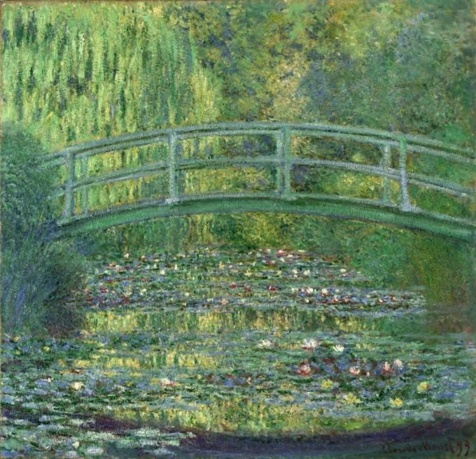 ポーラ美術館にあるクロード・モネ《睡蓮の池》