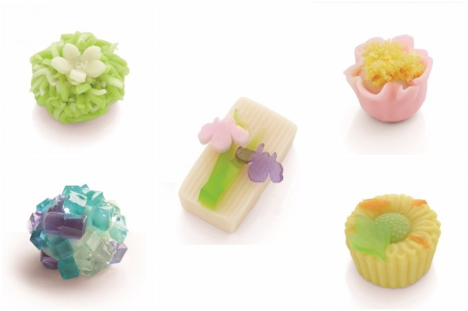 山種美術館の企画展『花*Flower*華 ―琳派から現代へ―』に際して、「Cafe 椿」で出される和菓子5種類