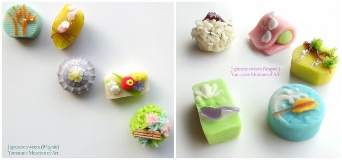 山種美術館の企画展『日本画の教科書 京都編・東京編』のときに、「Cafe 椿」で提供された和菓子たち