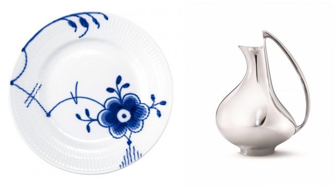 横須賀美術館で開催中の「デンマーク・デザイン」展で展示されるお皿とピッチャー