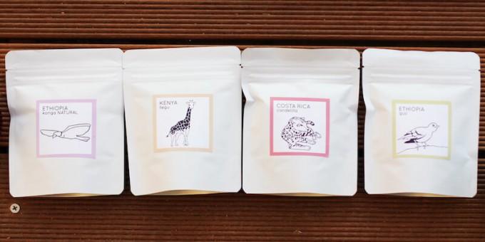 ライトアップコーヒー下北沢のエチオピア、ケニアなどシングルオリジンのコーヒー