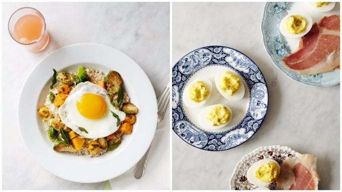 卵を使用した「エッグ(egg)」のブレックファーストメニューの様子